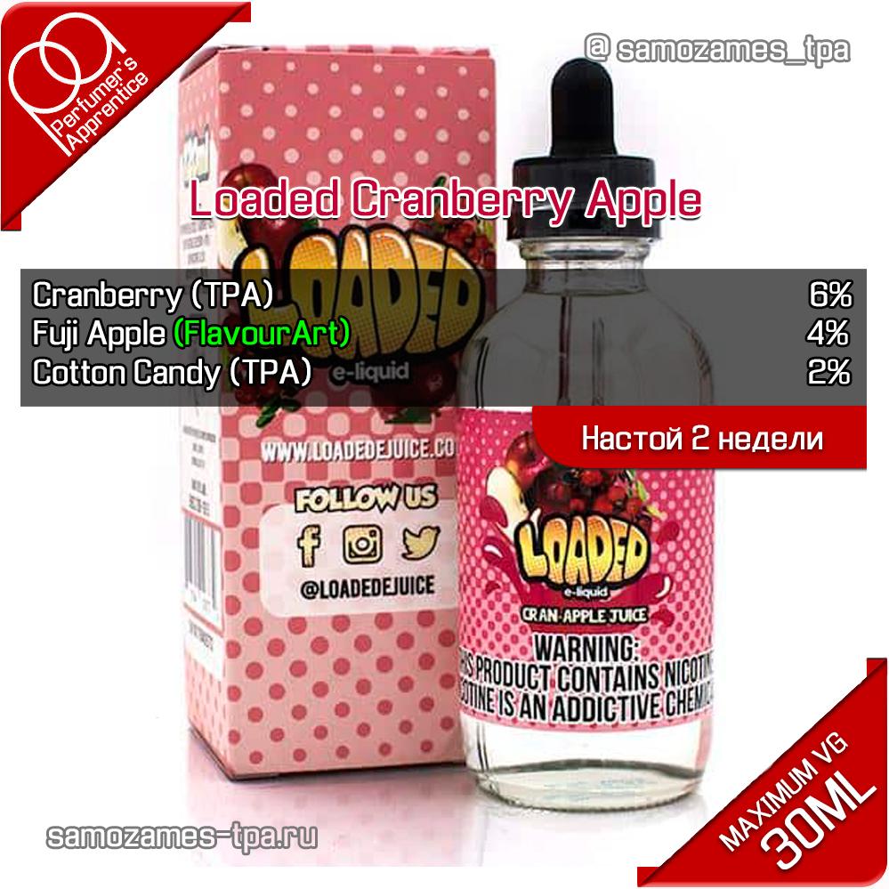 Рецепт жидкости Loaded Cranberry Apple